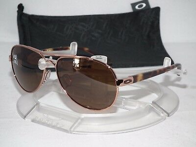 OAKLEY POLARIZED TIE BREAKER Aviator OO4108-04 Rose Gold / Bronze Gradient P
