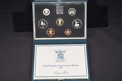 1985 Royal Mint United Kingdom (8) Coin Proof Collection Set Great Britain