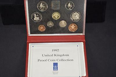 1992 Royal Mint United Kingdom (9) Coin Proof Collection Set Great Britain