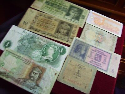 Collection Of Banknotes Used