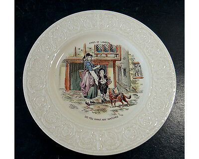 Cries Of London Do You Want Any Matches Crown Devon Pottery Plate England