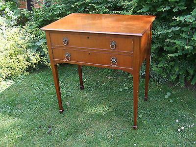 ANTIQUE QUALITY MAHOGANY  1920's 2 DRAWER DESK/ SIDE TABLE