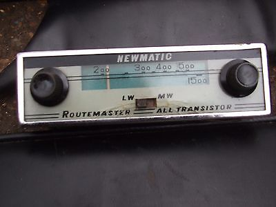 """Vintage Car Radio  All Transistor  """"newmatic"""" Routemaster"""