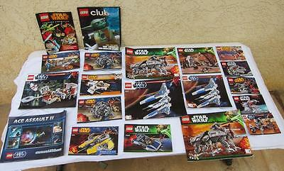 Large lot of Various Lego Manuals Star Wars Ninjago China City DC Marvel TMNT l
