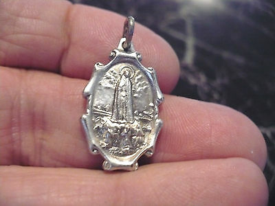 """Our Lady Of Fatima 1"""" Oval Vintage Catholic Holy Medal"""