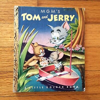 1951 Vintage A Little Golden Book First Edition Mgm's Tom And Jerry Cartoons