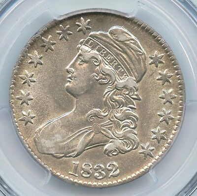 1832 Small Letters, Capped Bust Half Dollar, PCGS AU53