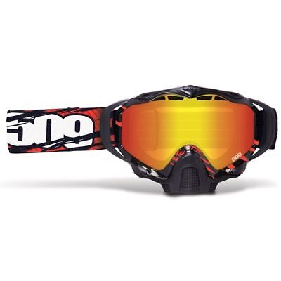 509 Sinister X5 Snow Snowmobile Goggles - SKULL CAMO -FIRE MIRROR ROSE TINT Lens