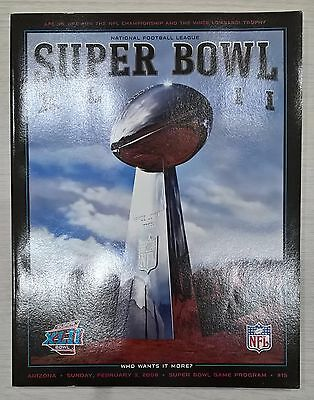 Super Bowl XLII 42 NFL Programme Patriots vs Giants US Edition 2008