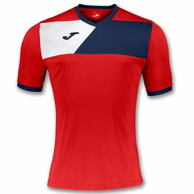 Joma Crew Ii Training T-Shirt - Large Adult - Red-Navy/white