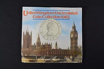 1982 Royal Mint United Kingdom Uncirculated (7) Coin Set Great Britain