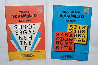Kids Children Vintage Travel Scrambled Letters Word Search Books