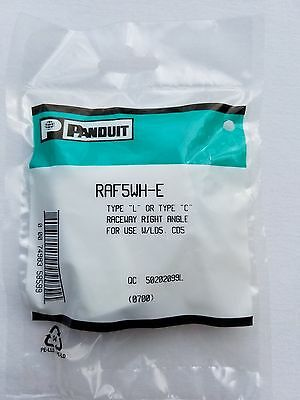 RAF5WH-E LD5 PANDUIT Low Voltage Right Angle Fitting - White