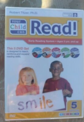 New YOUR CHILD CAN READ By R. Titzer,Ph.D. 5 DVD Early Reading System Set Age 3+