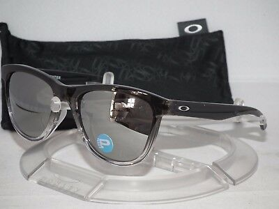 OAKLEY Polarized Moonlighter SUNGLASSES OO9320-07 Dark Ink Fade / Chrome Iridium