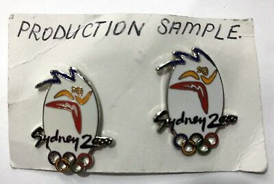 Rare Samples - Set 2 Oval White Logo Sydney 2000 Olympic Games Pins (#150)