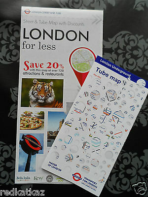 London Tourist City Map + Tube Map + 20% Discount Code Attractions & Restaurants