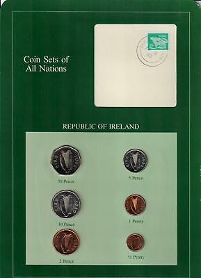 1980-1982 Republic Of Ireland Coin Sets Of All Nations (6) Coins