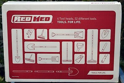 RedHed Interchangeable Garden Tool Set 32 Different Tools for Life *New in Box
