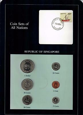 1981-1984 Republic Of Singapore Coin Sets Of All Nations (6) Coins