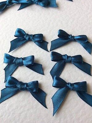 10 Blue 10mm Ribbon bows 🎀 for card making/scrap booking help charity