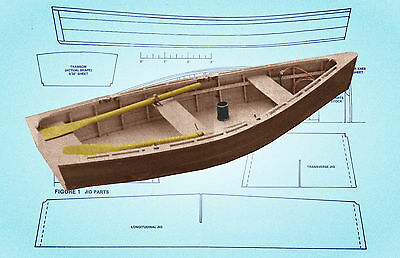 MODEL MIDWEST FLATIRON SKIFF Scale 1:12 Full Size Printed Plan & article