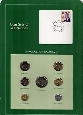 1974-1980 Kingdom Of Morocco Coin Sets Of All Nations (7) Coins