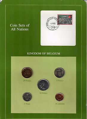 1969-1981 Kingdom Of Belgium Coin Sets Of All Nations (5) Coins