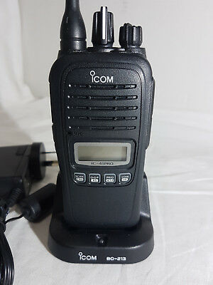 Icom Ic-41 Pro 80 Channel Uhf Cb Transceiver Waterproof + Charger - Never Used