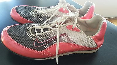 NIKE Air Womens Spike Lace Golf Shoes Size 6.5 Pink White