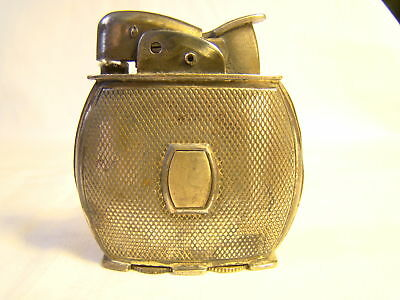 Nice Vintage Evans Round Unengraved Mid Century Automatic Lighter Sparking Well