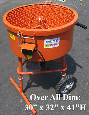Industrial 120L Cement Concrete Mortar Stucco Mixer 120 Liter 110 Volt