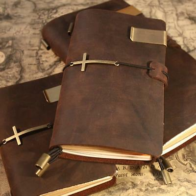 Handmade Vintage Traveler's Notebook Diary Journal Blank Leather Cover a5