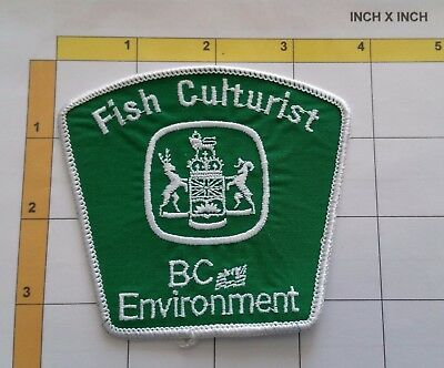 BC Environment Fish Culturist Obsolete Dept Officer Patch