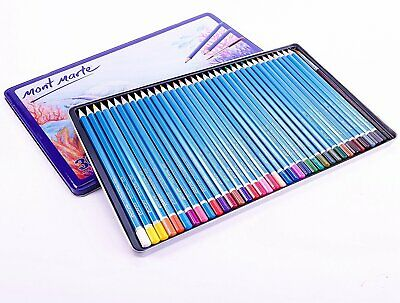 Mont Marte Watercolour Pencils In Metal Tin 36pc