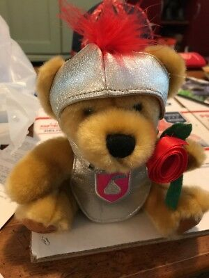 Hershey World Kisses Sir kiss a lot plush bear 2005 Knight Cosplay Hersheys Pa