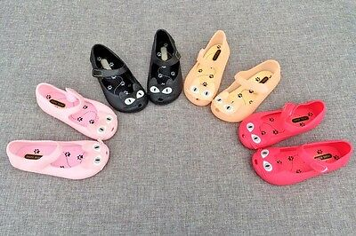 NEW Mini Melissa Jelly Princess Shoes Lovely Cat Girls Sandals US Size 6-11