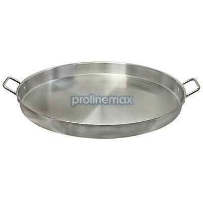 Heavy Duty 23'' ROUND Stainless Steel Comal Griddle Pan Grill Fry Tray Cook