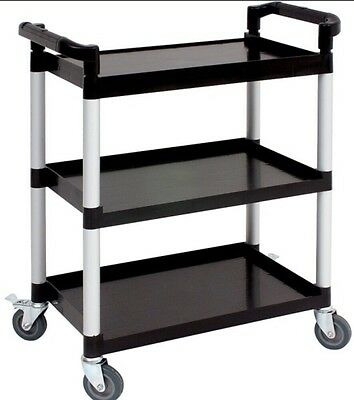Professional Catering 3 Shelve Trolley Plastic Dinner Service Trolley