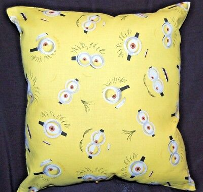 New Handmade  Minion Eyes Despicable Me  Toddler / Car Pillow  - Yellow