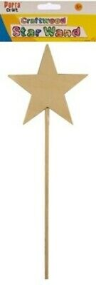 Wooden Craft Star Wand 1pc