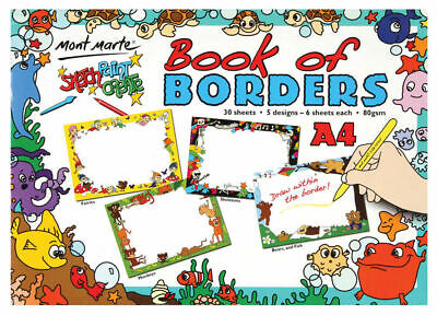 Mont Marte Kids - Book of Borders A4 30 Sheet