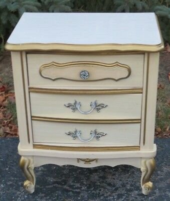 Vintage Bonnet Sears Dixie Nightstand French Provincial 2 Drawer Side End Table