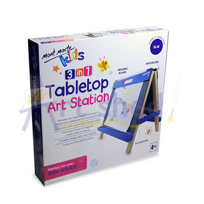 Mont Marte Kids - Tabletop Art Station Easel - Blue