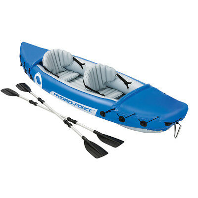 NEW Inflatable 2-Seater Bestway Hydro Force Kayak with 2.18m Twin-blade Oars