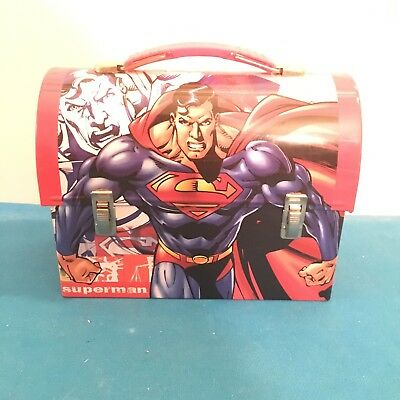 The Tin Box Company DC Comics Who Is Superman Metal Lunch Box