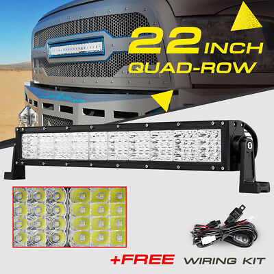 "QUAD-ROW 22"" 1440W CREE LED Work Light Bar Spot Flood Offroad Truck ATV 4X4 24"""
