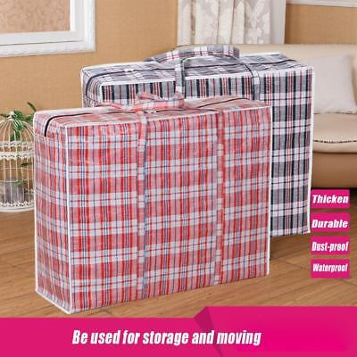 Plastic Reusable Jumbo Capacity Storage Bag Zipped Large Strong Home Laundry Bag
