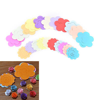 44pcs 11ColorsPaper Quilling Flower Rose Paper Handmade Material Accessories DIY