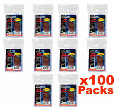 100 Packs x Ultra Pro Premium Card Protector Sleeves Penny Plastic Clear Box